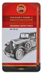 Picture of KOH-I-NOOR ART GRAPHITE PENCIL SET 12PCS