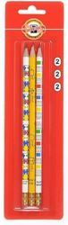 Picture of KOH-I-NOOR GRAPHITE PENCIL WITH ERASER SET OF 3