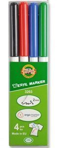 Picture of KOH-I-NOOR TEXTILE MARKERS 4PCS