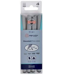 Picture of KOH-I-NOOR DOCUMENT FINE LINERS 4PCS