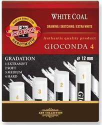 Picture of KOH-I-NOOR WHITE COAL ASSORTED GRADES 4PC