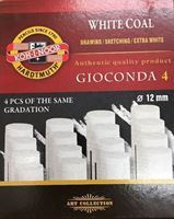 Picture of KOH-I-NOOR WHITE COAL EXTRA SOFT 4PC