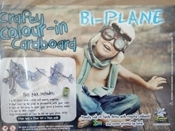 Picture of CRAFTY COLOUR-IN CARDBOARD BI-PLANE
