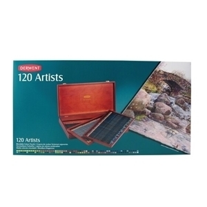 Picture of DERWENT ARTISTS 120 WOOD BOX SET