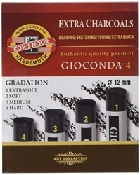 Picture of KOH-I-NOOR CHARCOAL MEDIUM 4PC