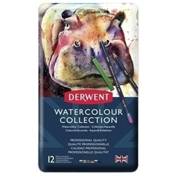 Picture of DERWENT WATERCOLOUR & INKTENSE COLLECTION TIN 12