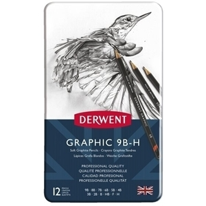 Picture of DERWENT GRAPHIC PENCILS SET 12 TIN 9B-H