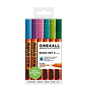 Picture of MOLOTOW ACRYLIC MARKER BASICS SET 2 ONE4ALL 2MM