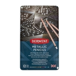 Picture of DERWENT METALLIC PENCILS TIN 12