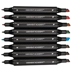 Picture of DERWENT ACADEMY  TWIN TIP (CHISEL) MARKERS