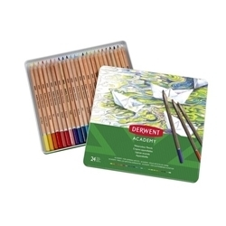Picture of ACADEMY WATERCOLOUR PENCILS TIN 24