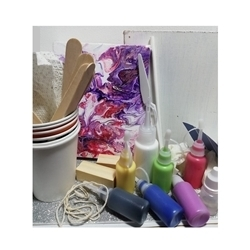 Picture of ACRYLIC FLUID ART PARTY KIT