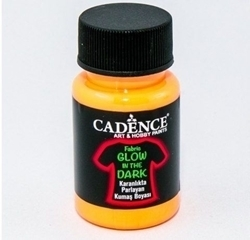 Picture of CADENCE GLOW IN THE DARK FABRIC PAINT NATURAL GREEN