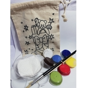 Picture of KIDS FABRIC PAINTING BAG CHRISTMAS STOCKING KIT