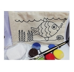 Picture of KIDS FABRIC PAINTING BAG FISH KIT