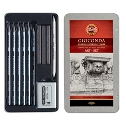 Picture of KOH-I-NOOR GIOCONDA 11PCS TIN ART SET
