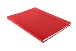 Picture of FILOFAX NOTEBOOK A4 CLASSIC RULED RED