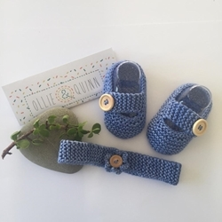 Picture of Strap Shoe with Headband 0-3 Months