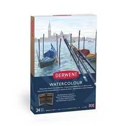 Picture of DERWENT WATERCOLOUR ASSORTED 24 WOODEN BOX