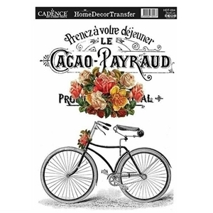 Picture of CADENCE DÉCOR TRANSFER PAPER BICYCLE