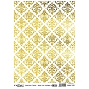 Picture of CADENCE METAL LEAF RICE PAPER GOLD#20