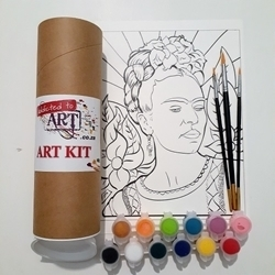 ART ADDICTS ACRYLIC PAINTING FRIDA PROFILE TUBE KIT