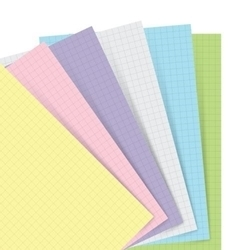 Picture of FILOFAX NOTEBOOK REFILL A5 PASTEL SQUARED PAPER