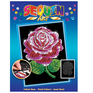 SEQUIN ART ORIGINAL RED ROSE