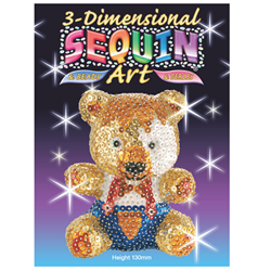 SEQUIN ART TEDDY 3D