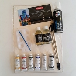 Picture of ADDICTED TO ART ARTISTS' OIL PAINTING DELUXE KIT
