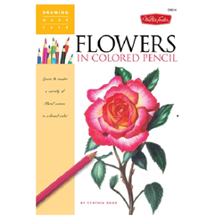 WALTER FOSTER DME14 FLOWERS IN PENCIL