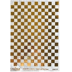 CADENCE METAL LEAF RICE PAPER R/GOLD#09