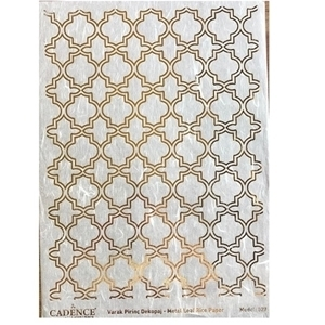 CADENCE METAL LEAF RICE PAPER R/GOLD#27