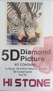 DIAMOND DOT ART DRINKING ZEBRA 50X65