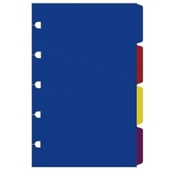 Picture of FILOFAX NOTEBOOK REFILL A5 CLASSIC BRIGHT COLOURED INDICES ASSORT