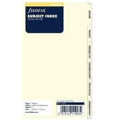 Picture of FILOFAX UNDATED PERSONAL SUBJECT INDEX CREAM 6 TABS
