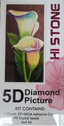 DIAMOND DOT ART 5D PAINTED LILY FLOWER