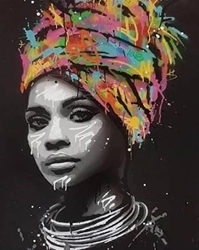 PAINTING BY NUMBERS AFRICAN WOMAN 50X40