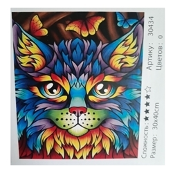 DIY PAINTING CAT 30X40