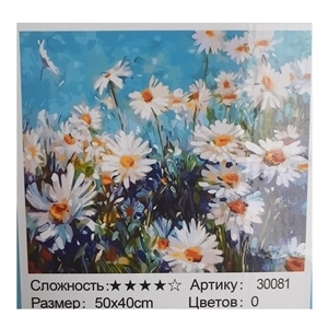 PAINTING BY NUMBERS DAISY FIELD 50X40