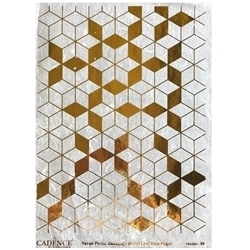 Picture of CADENCE METAL LEAF RICE PAPER R/GOLD#08