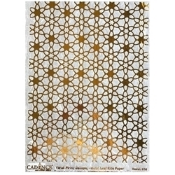 Picture of CADENCE METAL LEAF RICE PAPER R/GOLD#10
