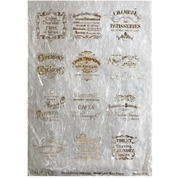 Picture of CADENCE METAL LEAF RICE PAPER R/GOLD#36