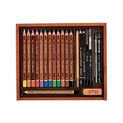 Picture of KOH-I-NOOR AQUARELLE DRAWING SET IN WOODEN BOX
