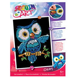 Picture of SEQUIN ART RED OZZY OWL