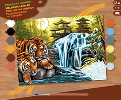 PAINT BY NO.SENIOR WATERFALLS TIGERS