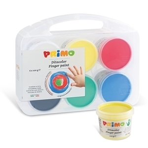 PRIMO TEXTILE FINGER PAINT POT SET OF 6 x 100G