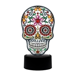 DIAMOND DOT ART LED LIGHT SKULL