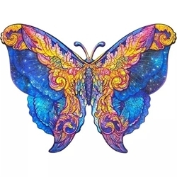 WOODEN PUZZLE MYSTERIOUS BUTTERFLY A4