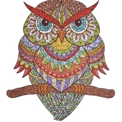 WOODEN PUZZLE MYSTERY COLOUR OWL A3
